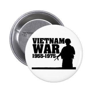Guerra de Vietnam 1955-1975 Pin Redondo 5 Cm
