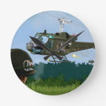 Guerra de Vietnam Bell Huey. Reloj De Pared