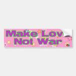 Guerra del amor no etiqueta de parachoque