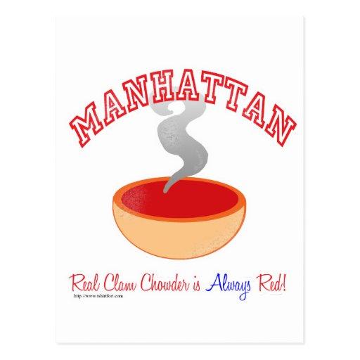 Guerra del Chowder de Manhattan Tarjetas Postales