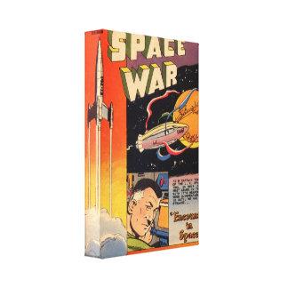 Guerra del espacio del arte cómico de la época dor lona estirada galerias