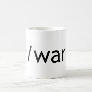 guerra del final taza básica blanca