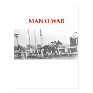 guerra del hombre o postal