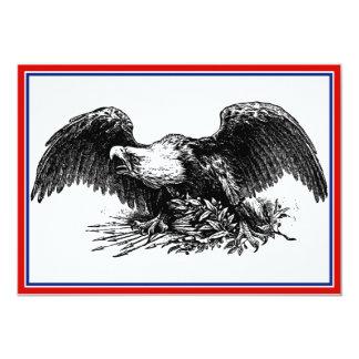 """Guerra Eagle del vintage Invitación 5"""" X 7"""""""