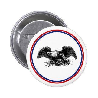 Guerra Eagle del vintage Pin Redondo De 2 Pulgadas