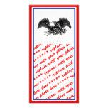 Guerra Eagle del vintage Tarjeta Con Foto Personalizada