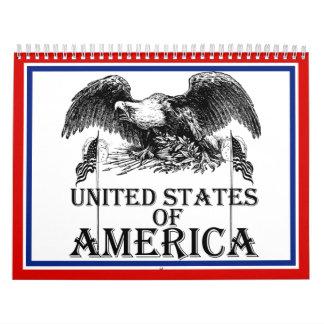 Guerra Eagle del vintage Calendario