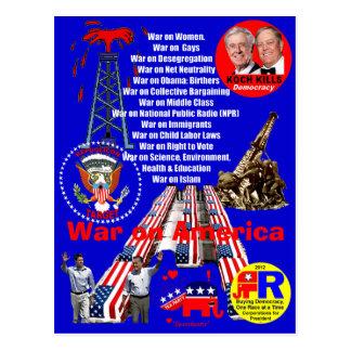 Guerra en América - postal
