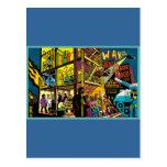 Guerra en el arte del dibujo animado de la postal