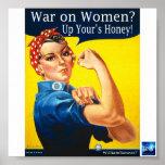 Guerra en el poster de las mujeres