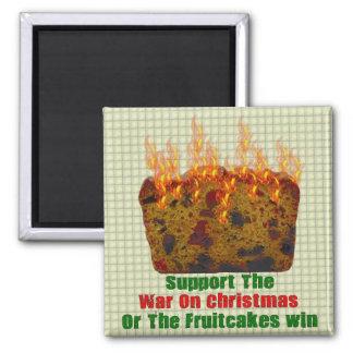 Guerra en Fruitcakes Imán Cuadrado
