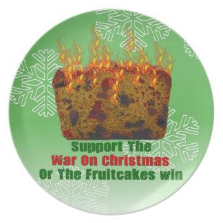 Guerra en Fruitcakes Platos De Comidas