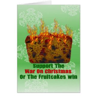 Guerra en Fruitcakes Tarjeta De Felicitación