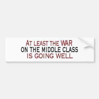 Guerra en la clase media pegatina para auto