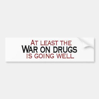 Guerra en las drogas etiqueta de parachoque