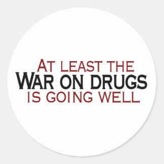 Guerra en las drogas pegatina redonda