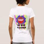 Guerra en mujeres camisetas