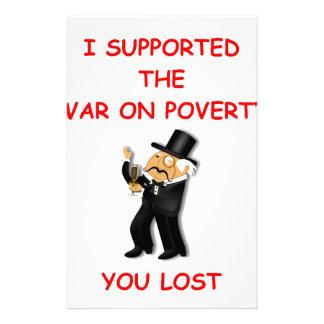 guerra en pobreza papeleria de diseño