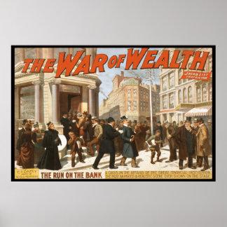 Guerra en riqueza póster