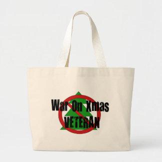 Guerra en veterano de Navidad Bolsa De Mano