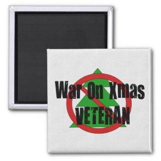 Guerra en veterano de Navidad Imán Cuadrado