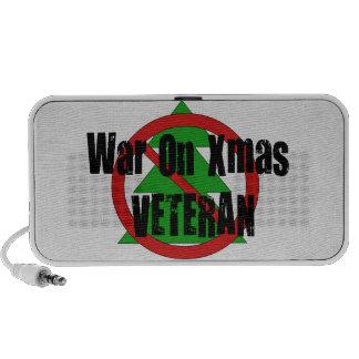 Guerra en veterano de Navidad Portátil Altavoces