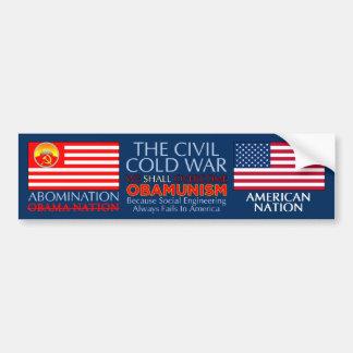 Guerra fría civil - pegatina para el parachoques s pegatina de parachoque