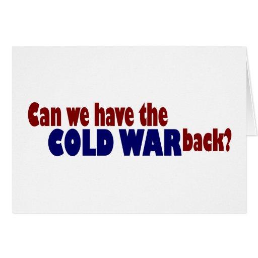 Guerra fría tarjeton