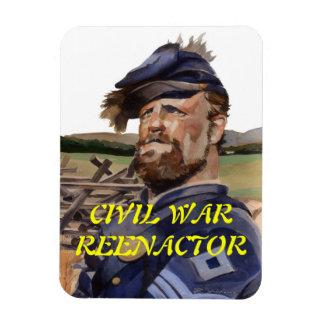 Guerra Imán-Civil Reenactor Iman Rectangular