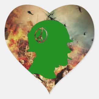 Guerra: Muerte y destrucción Pegatina En Forma De Corazón