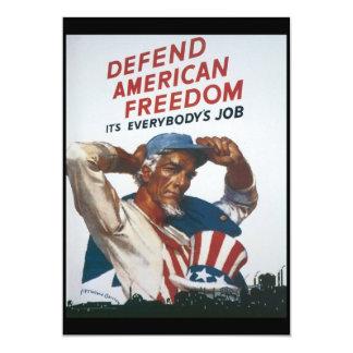 """Guerra mundial americana de la libertad 2 invitación 5"""" x 7"""""""