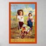 Guerra mundial de ayuda del vintage del ~ de Hoove Poster