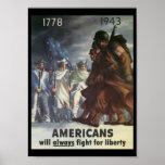Guerra mundial de la lucha de los americanos 2 poster