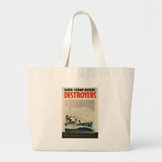 Guerra mundial de los destructores 2 bolsas lienzo