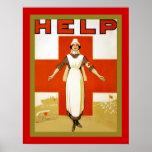 Guerra mundial del ~ de la enfermera del vintage d poster