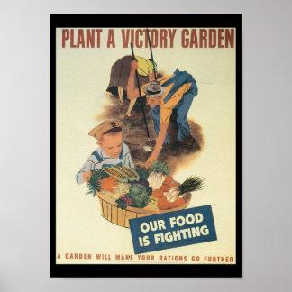 Guerra mundial del jardín de victoria 2 póster