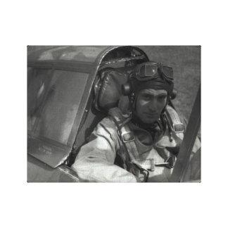 Guerra mundial del piloto de caza del mustango P-5 Lona Estirada Galerías