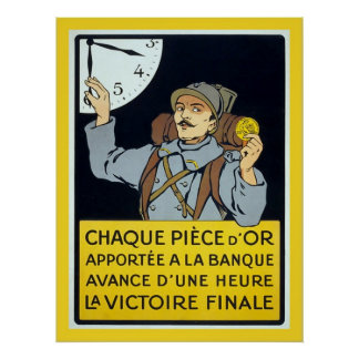 Guerra mundial francesa del vintage 1 posters