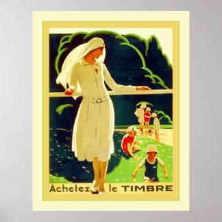 Guerra mundial francesa del vintage del ~ de Achet Posters