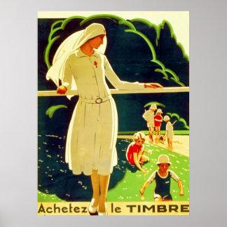 Guerra mundial francesa del vintage del ~ de Achet Impresiones