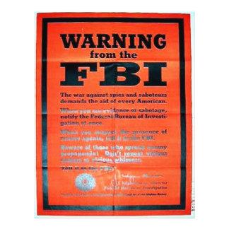Guerra Ning del Fbi Tarjetas Publicitarias