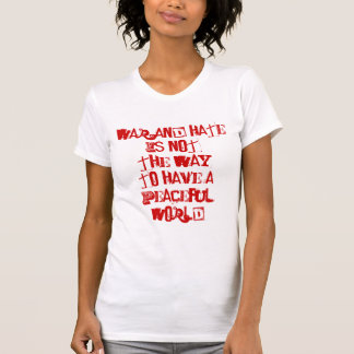 Guerra odio contra paz camisetas