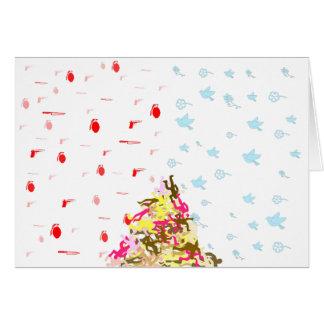Guerra pacífica tarjeta de felicitación