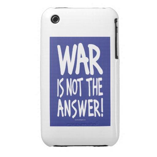 Guerra, paz Case-Mate iPhone 3 fundas