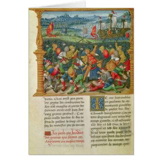 Guerra que emprende de rey Edward III en la batall Tarjeta De Felicitación