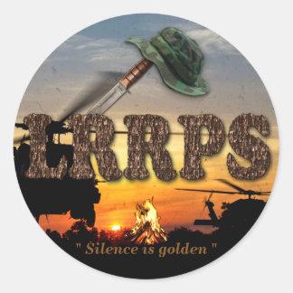 Guerra renovada de LRRP LRRPS LURPS Vietnam Nam Pegatina Redonda