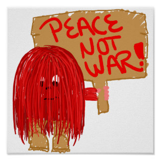 Guerra roja de la paz no poster