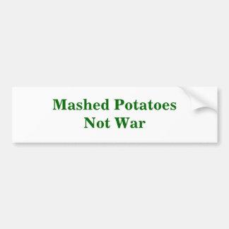 Guerra triturada de PotatoesNot Pegatina Para Auto