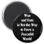 Guerra y odio contra paz imán