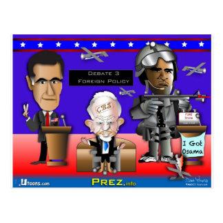 Guerra y paz del discusión 3 tarjetas postales